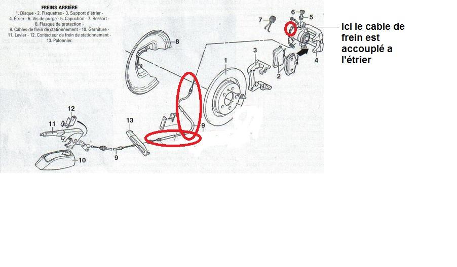 remplacer c u00e2ble frein de stationnement opel vivaro