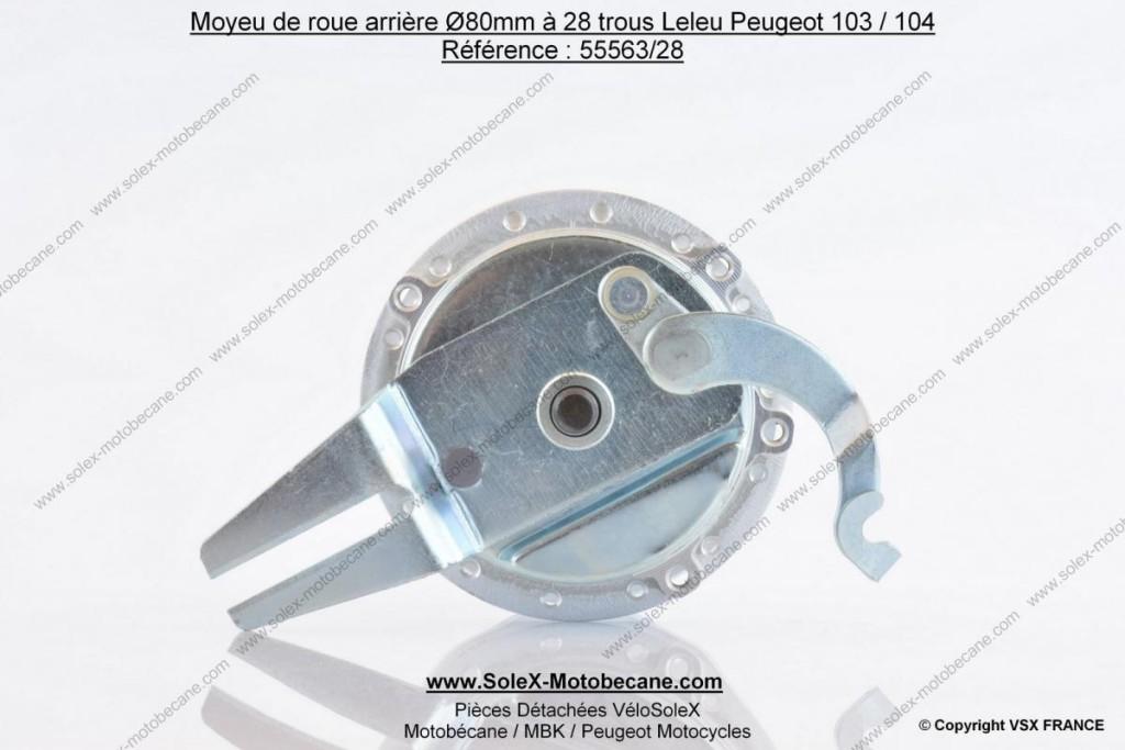Moyeu de roue Peugeot 104