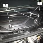 Biellette du moteur d'essuie-glace Renault Mégane