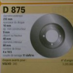 Disques de frein Volvo 345